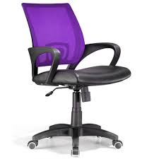 black and purple back computer desk chairs with simple arm rest for home office furniture ideas