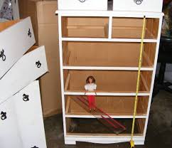 homemade barbie furniture ideas. building a barbie doll house with recycled dresser from justu0027in designs homemade furniture ideas u