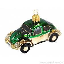 Auto Glas Grün Gold Christbaumschmuck Baumschmuck