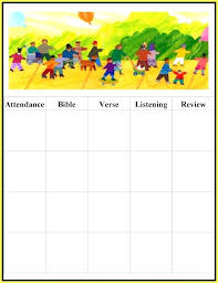 Free Attendance Template Sunday School Chart Sheet Excel – Gamerates.co