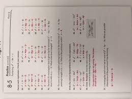 practice ws 8 5 form g