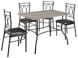 dorel living shelby 5 piece rustic wood and metal dining set espresso