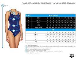 Arena Swimsuit Size Chart 57 Detailed Swimsuit Size Chart Uk