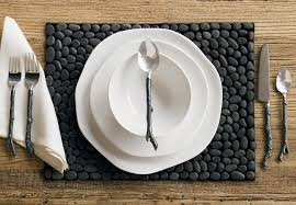 Black Stone Placemats