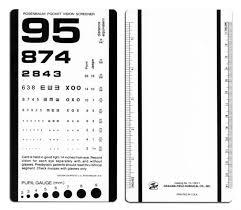 20 20 Vision Chart Rosenbaum Pocket Vision Screener Near 20 800 To 20 20
