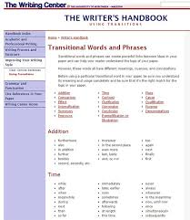 Transition Word Chart Anyone Used A Good Essay Writing Service University And