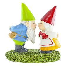 details about miniature dollhouse fairy garden kissing gnome couple accessories
