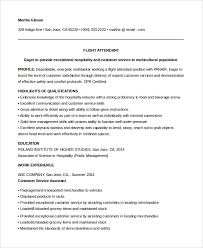 Sample Resume For Flight Attendant Sample Flight Attendant Resume 6 Examples In Pdf Word