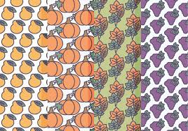 Fall Patterns Amazing Vector Set Of Fall Patterns Download Free Vector Art Stock