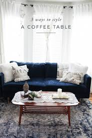 Style Coffee Table 3 Ways To Style A Coffee Table Aol Lifestyle