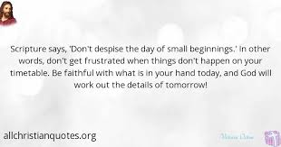 Small Christian Quotes Best Of Victoria Osteen Quote About Small Faithful Beginnings