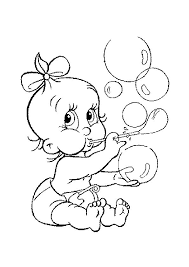 Een Baby Die Bellen Blaast Kleurplaat Coloring Coloring Pages