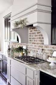 Kitchen Backsplash Wallpaper Kitchen Modern Kitchen Design With Stunning Brick Backsplash