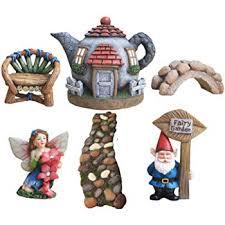 fairy garden items.  Fairy LA JOLIE MUSE Fairy Garden Accessories Kit 6pcs Gnomeu0026Fairies Statues  Hand Painted Miniature Figurines For Items R
