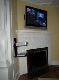 coventry ct tv instlal over fireplace with all wires concealed and 2 tier shelf
