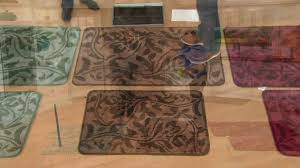 don aslett s tonal patterned microfiber indoor mat on qvc