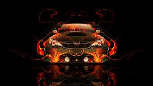 subaru impreza wrx sti jdm front fire car