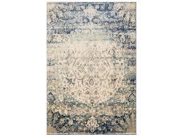 loloi rugs anastasia af 06 rectangular blue ivory area rug