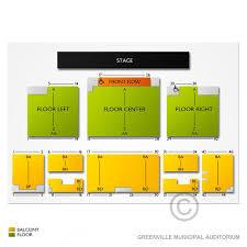 Greenville Municipal Auditorium 2019 Seating Chart