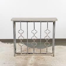 iron console table. Petite Quatrefoil Iron Console Table