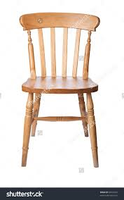 Kitchen Chair Traditional Pine Kitchen Chair Isolate On Stock Photo 36573223