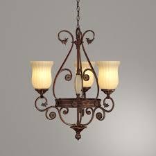 hampton bay freemont collection 3 light hanging antique bronze chandelier