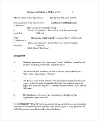 Sublease Form 13 Sublease Agreements Word Pdf Pages Free Premium
