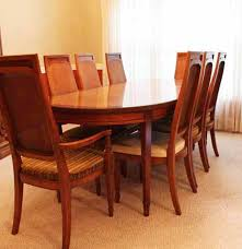 Lane Walnut Dining Room Table Ten Chairs Walnut Dining Room Chairs - Walnut dining room furniture
