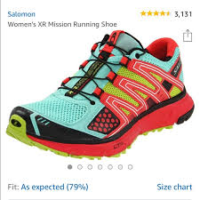Salomon Running Shoes Size Chart Salomon Xr Mission Trail Running Shoes 8 Colorful