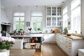 Kitchen Family Room Beautiful French Kitchen With White Cabinetry And Small Family