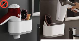 adhesive hair dryer holder no
