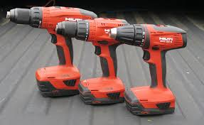 hilti tools. a while back we showed the preview of three new drills from hilti. drill did show them off and give you taste drills, hilti tools