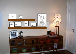 Shelves For Bedroom Walls Floating Brown Wooden Board And Rectangular Brown Wooden Wall