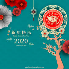 chinese new year card 2020 chinese new year rat 2020 greeting cards create custom wishes