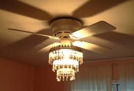 crystal chandelier ceiling fan light kit black