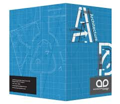 architecture design blueprint. Architecture Blueprint Pocket Folder Design Template (Front And Back View) E