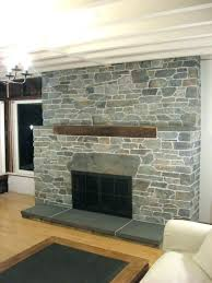 replace brick fireplace with stone stone veneer fireplace this stone veneer fireplace replaced an old brick fireplace stone veneer fireplace hearth reface