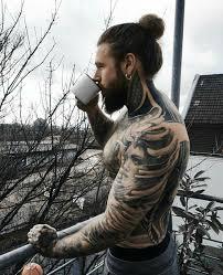 Babers Coffee ламберсексуал татуировки мужские длинные стрижки