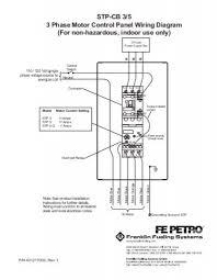 stp cb 3 5 3 phase motor control panel wiring diagram franklin Basic Motor Control Wiring Diagram stp cb 3 5 3 phase motor control panel wiring diagram franklin