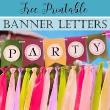 Letter For Banner Free Printable Banner Letters Customize Online Print At Home
