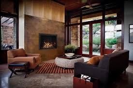 bring the outdoors inside with a norway spruce fire base and rustic elements like the aged leather wide grace front of this fullview fireplace