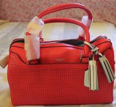 NEW Coach Legacy Haley Perforated Coral Soft Leather Satchel Handbag F23577   398
