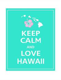 Keep Calm And LOVE HAWAII Print 40x40 Aqua Featured By PosterPop Stunning Love You Sis Hawa