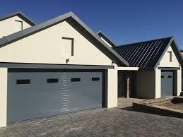 double with glass inserts aluminium garage doors