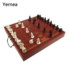 Wooden Board Game Sets Yernea High grade Wooden Chinese Chess Game Set Folding Chessboard 20