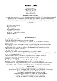 Resume Templates: Christian Counselor
