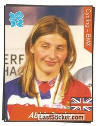 Abbie Taylor (Cycling - BMX). 189. Panini Official Sticker Collection LONDON 2012 - 189
