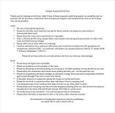 The Bump Birth Plan Birth Plan Template Sample Get Sniffer