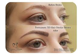 eyebrow microblading. before and after permanent 3d hair stroke brows - microblading eyebrow d