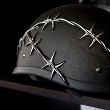 best 3d custom barbed wire dot approved motorcycle helmet for